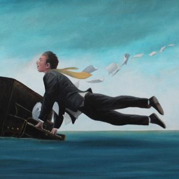 Crescendo 16x24in, acrylic on canvas, £1400
