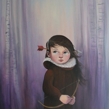 Huntress 36x28in, acrylic on canvas, £1650