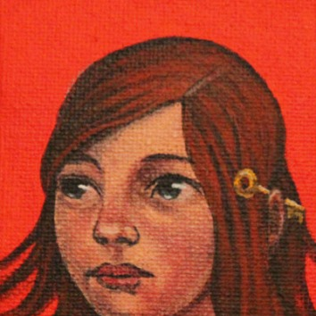 Keeper 3.5x2.5in,acrylic on canvas, £195