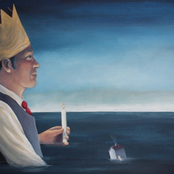Lighthouses 16x22in, acrylic on canvas, £895