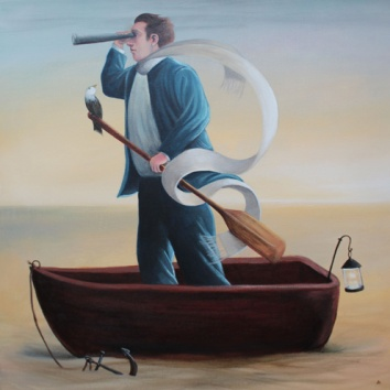 Searchers 20x20in, acrylic on canvas, £995