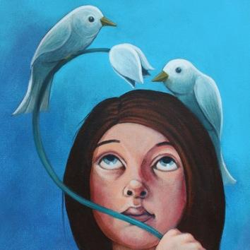 Snowdrop 16x12in, acrylic on canvas, £650