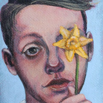 Starry-Eyed 3.5x2.5in, acrylic on canvas, £195