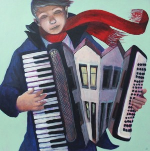 Accordion Street 30x30cm